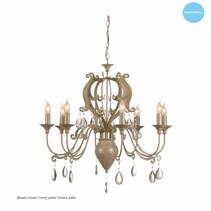 Lustre chandelier avec cristaux E14x8 80cm Ø
