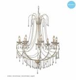 Big pendant light chandelier crystal E14x8 102cm high