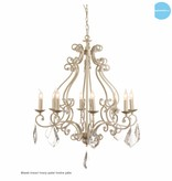 Chandelier pendant light black, grey, white E14x8 82cm