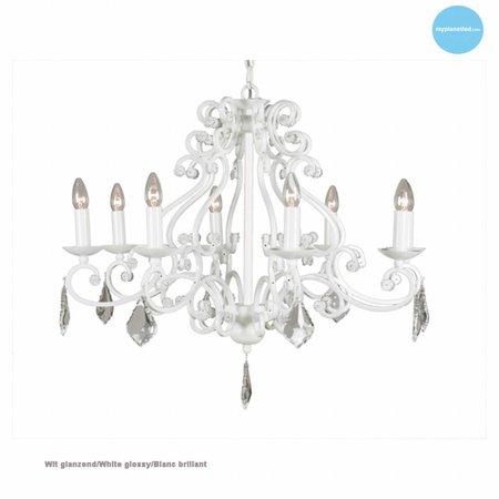 Lustre chandelier noir, gris, blanc, beige E14x8 82cm Ø