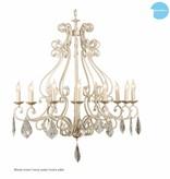 Lustre chandelier noir, gris, blanc, beige E14x12 105cm