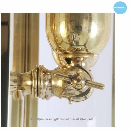Wandlamp landelijk buiten brons, nikkel, chroom 40cm H