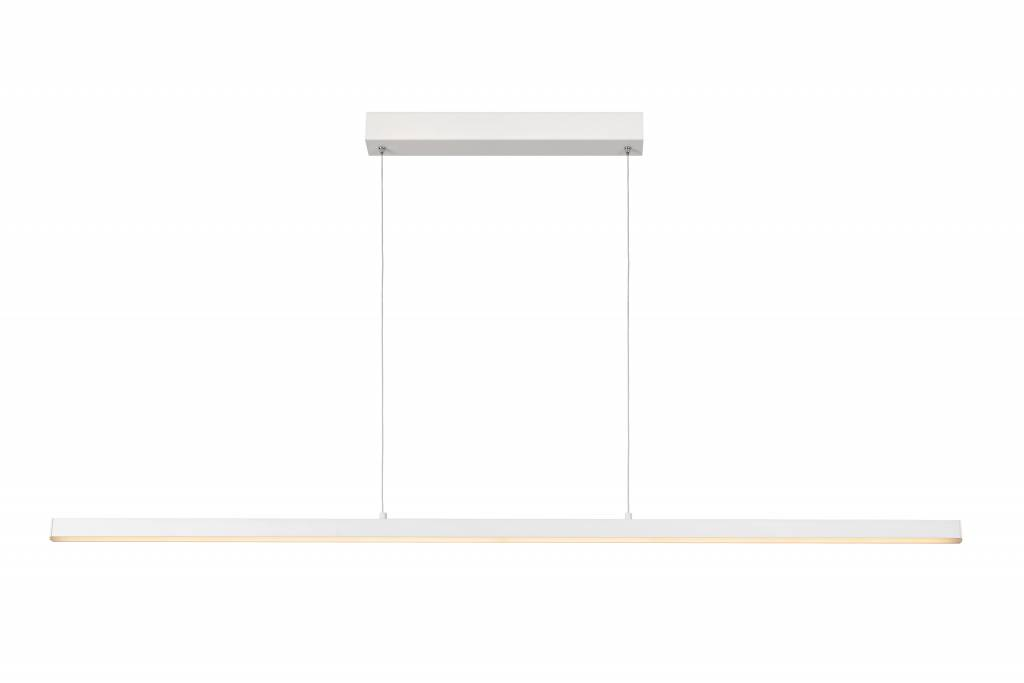 Long pendant light white, brown dimmable 147,5cm 33W