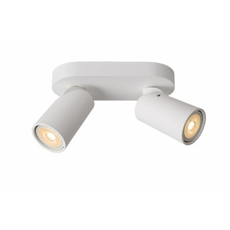 Cylinder ceiling light white or black orientable GU10x2