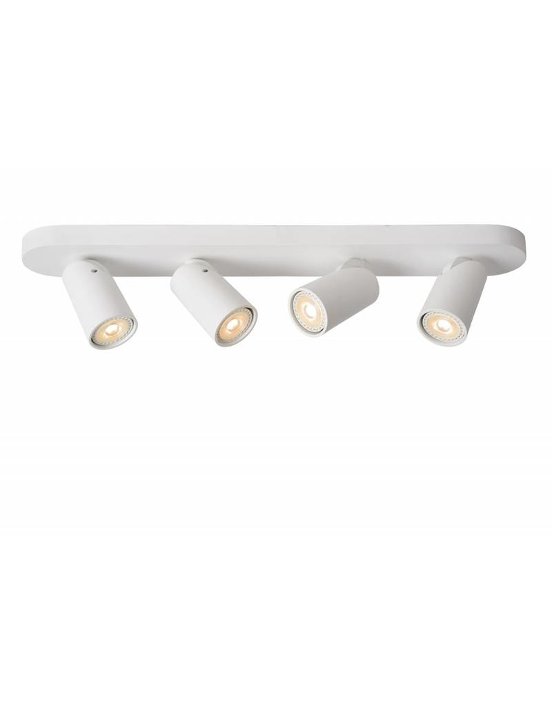 Cylinder ceiling light white or black orientable GU10x4
