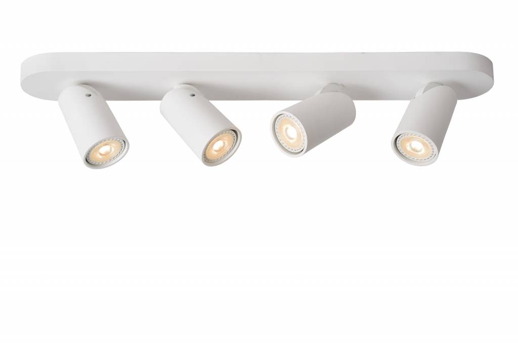 Cylinder ceiling light white or black orientable GU10x4
