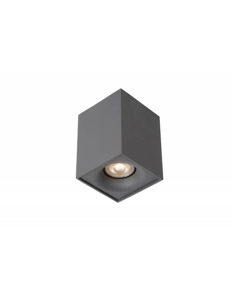 Design ceiling light LED white or grey square 4,5W GU10