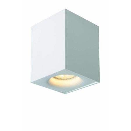 Design plafondspot LED wit, grijs vierkant 4,5W GU10