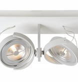 Ceiling light LED white or grey orientable 2x12W 33cm