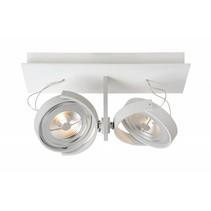 Spot plafond LED blanc, gris orientable 2x12W 33cm