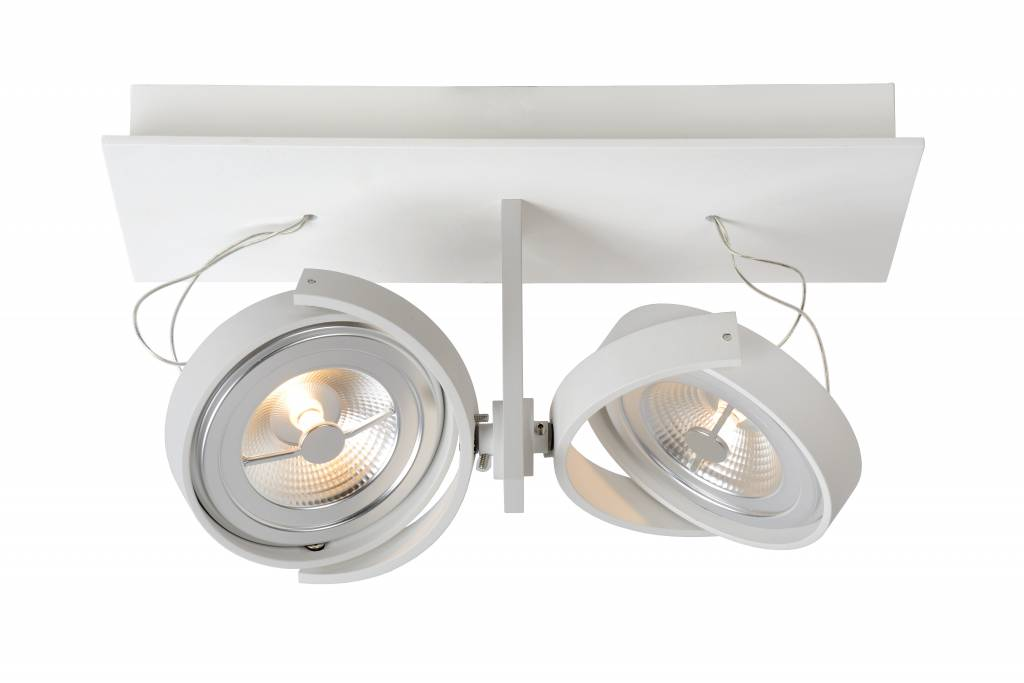 spot plafond led blanc gris orientable 2x12w 33cm myplanetled. Black Bedroom Furniture Sets. Home Design Ideas
