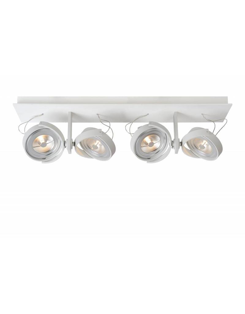 Ceiling light LED white or grey orientable 4x12W 67cm