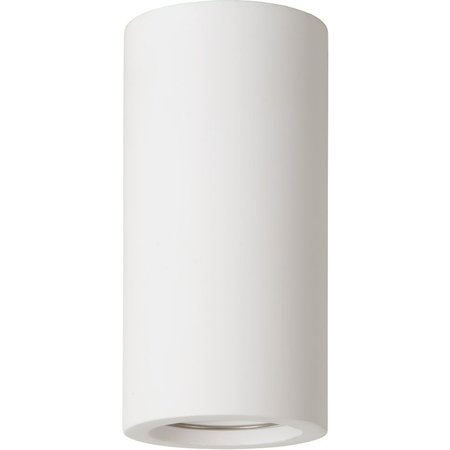 Plafondlamp wit gips rond 140mm hoog met fitting GU10