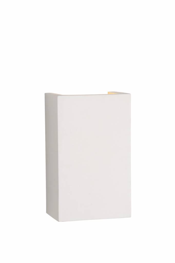 Plaster wall light white rectangular G9 180x110mm