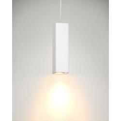 Hanglamp wit gips vierkant GU10 25cm hoog