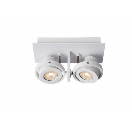 Design plafondspot wit of grijs GU10 LED 2x4,5W