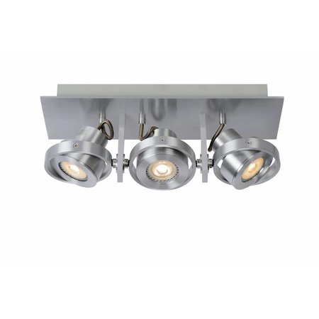Ceiling light for kitchen grey or white GU10 LED 3x4,5W