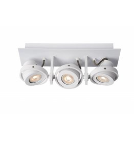 Design plafondspot wit of grijs GU10 LED 3x4,5W