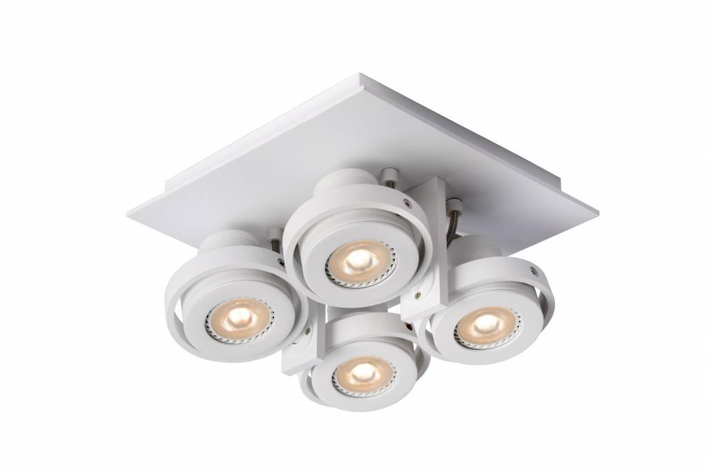 Spot plafond cuisine gris ou blanc gu10 led 4x4 5w for Cuisine 4x4