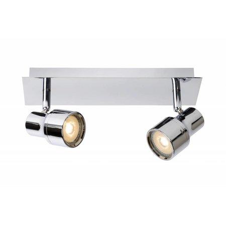 Bathroom ceiling light LED white or chrome GU10 2x4,5W