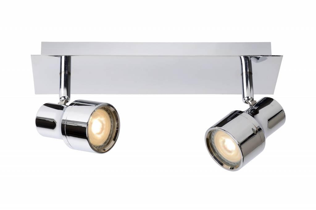 spot plafond salle de bain led blanc chrome gu10 2x4 5w myplanetled. Black Bedroom Furniture Sets. Home Design Ideas