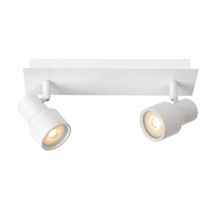 Badkamer plafondlamp LED wit of chroom GU10 2x4,5W