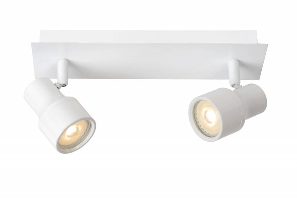 spot plafond salle de bain led blanc chrome gu10 2x4 5w. Black Bedroom Furniture Sets. Home Design Ideas