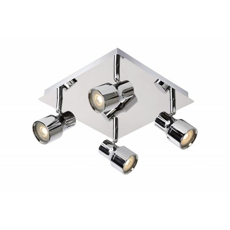 Bathroom ceiling light LED white or chrome GU10 4x4,5W