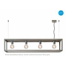 Lange hanglamp koper, zwart, wit, grijs, houtkleur 120cm