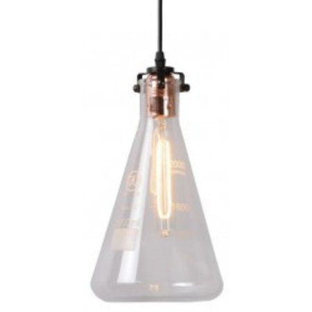 Glass pendant light transparent measuring cup 28cm H