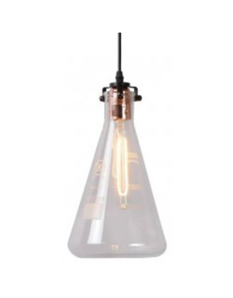 Glass pendant light transparent measuring cup 28cm H