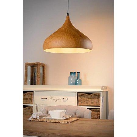 Lustre design couleur bois 42cm diamètre E27