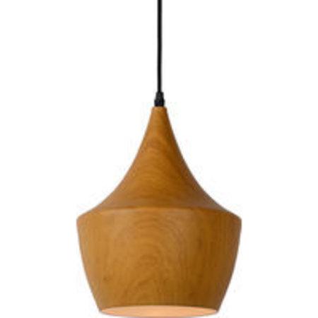 Lustre design couleur bois 24cm diameter E27