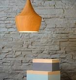Pendant light design wood colour 24cm diameter E27