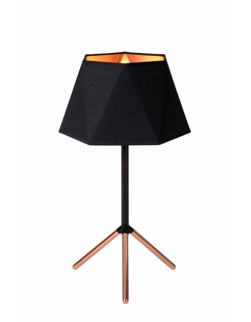 Design Table Lamp Black Gold Lamp Shade 32cm Ø