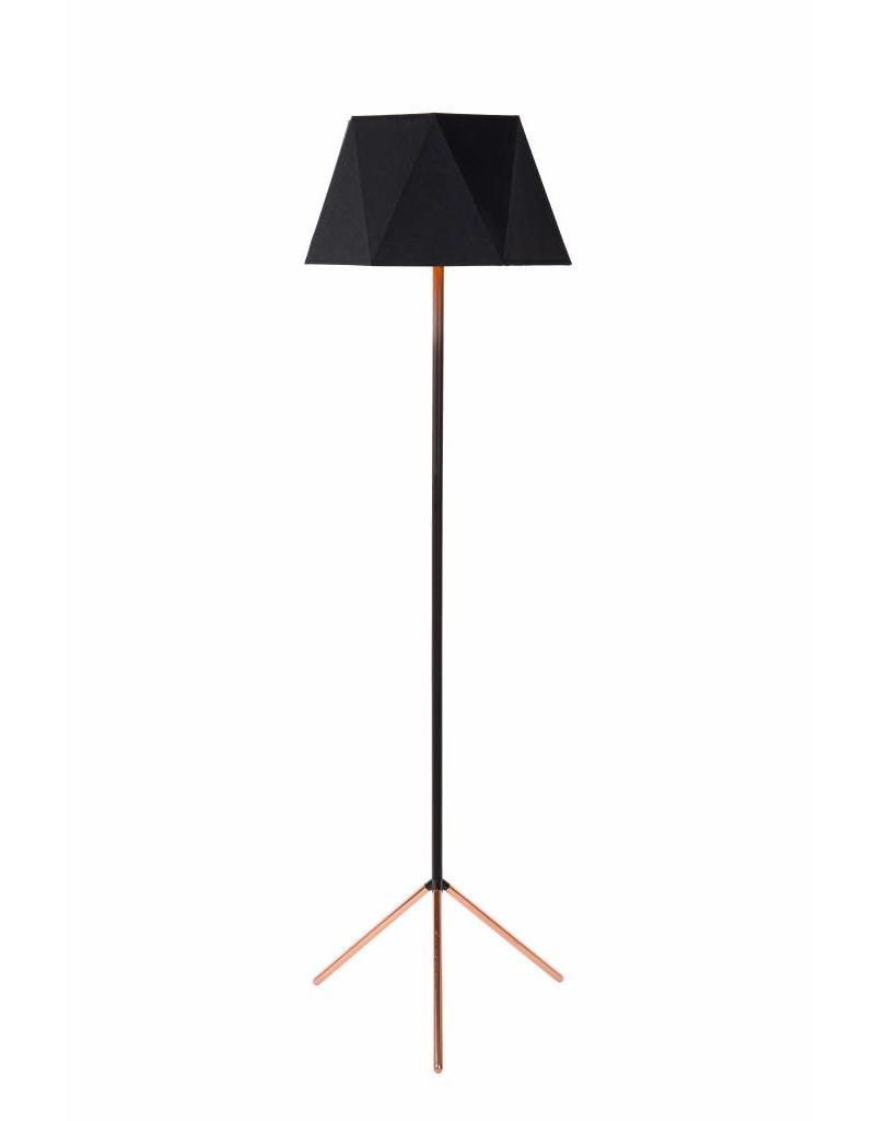 Design floor lamp tripod black 155cm high E27