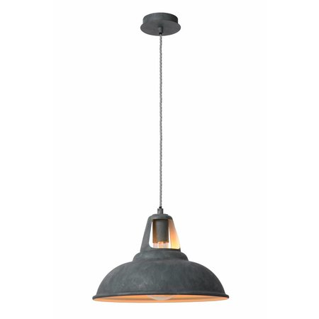 Industrial pendant light grey zinc 35cm diameter E27