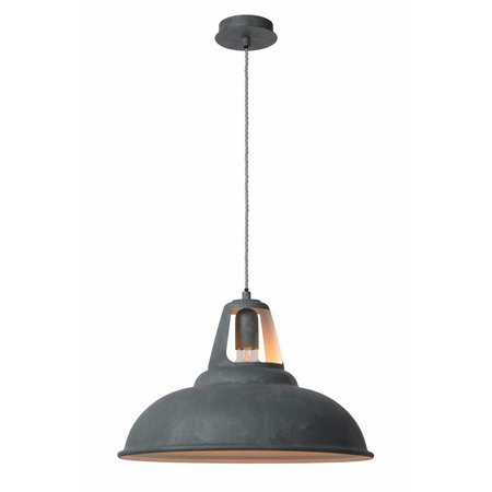 Industrial pendant light grey zinc 45cm diameter E27