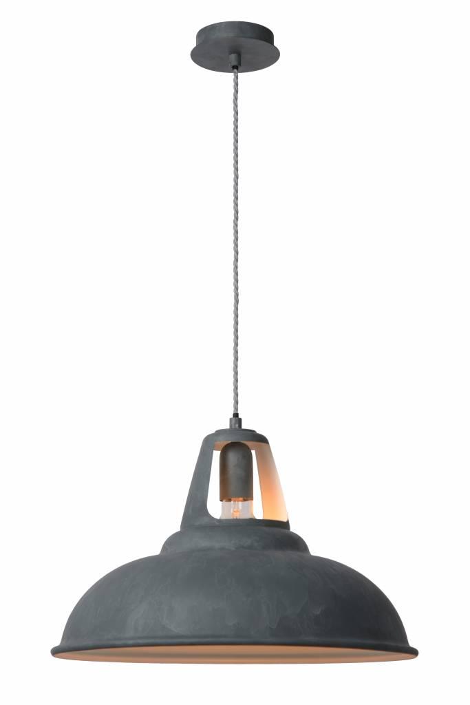 Industri le hanglamp grijs zink 45cm diameter e27 myplanetled - Kleur grijs zink ...