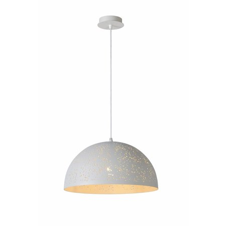 Dome pendant light white dots 40cm diameter E27