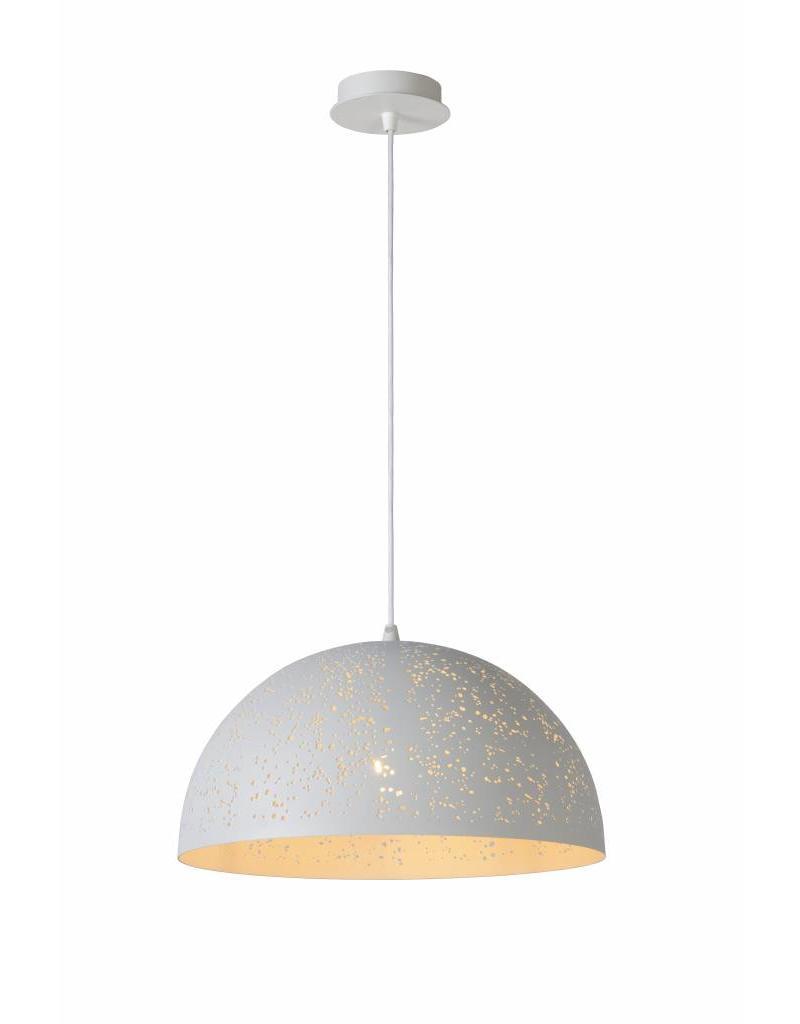 Dome pendant light white dots 40cm diameter E27