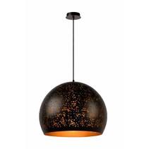 Suspension boule noiré dorée 50cm diamètre E27