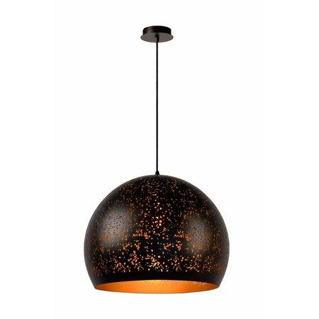 Hanglamp zwart goud bol 50cm diameter E27