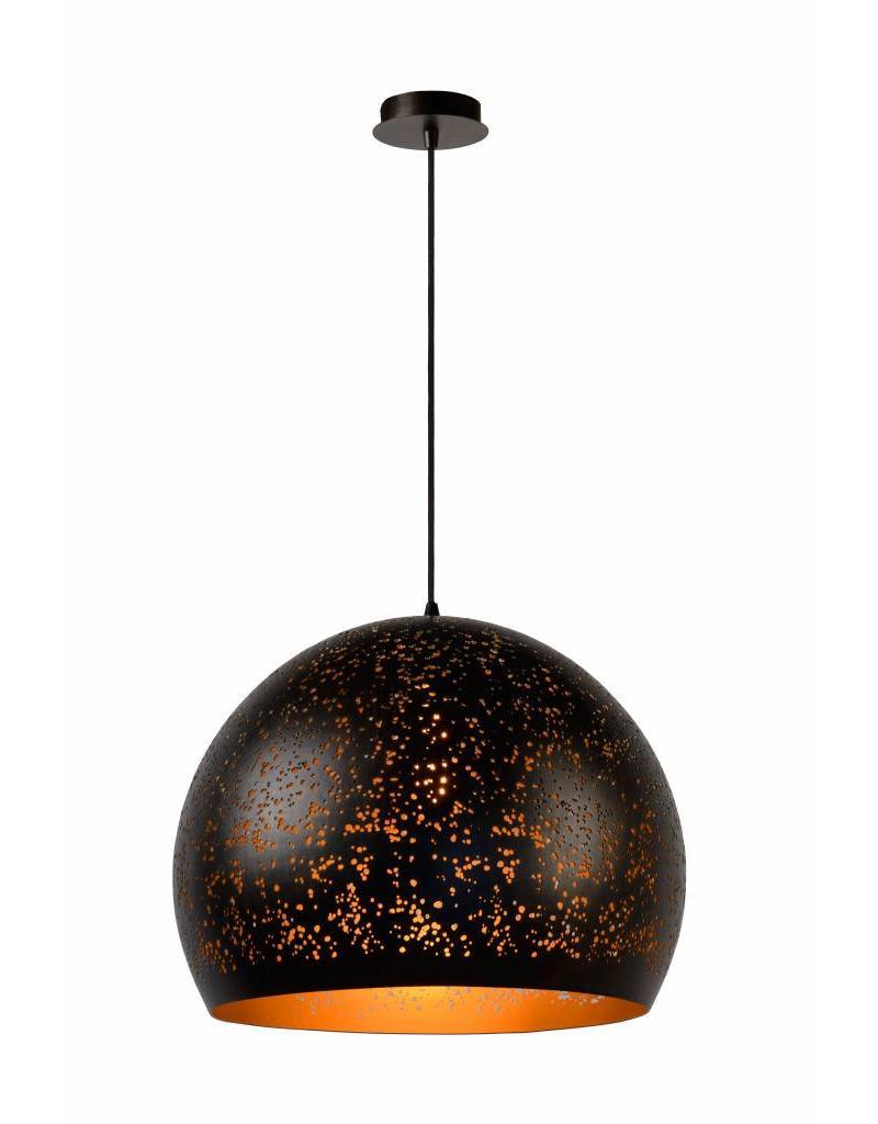 Ball pendant light black gold 50cm diameter E27