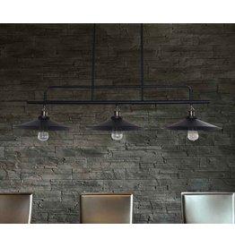 Luminaire suspendu vintage noir 1200mm E27x3