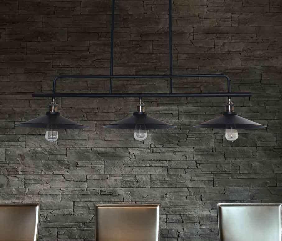Hanglamp industrieel zwart eetkamer 1200mm E27x3 | Myplanetled