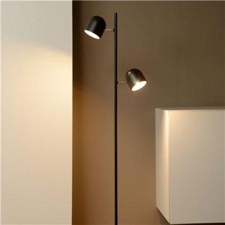 Lampadaire Scandinave noire, blanche LED 2x5W, 141cm