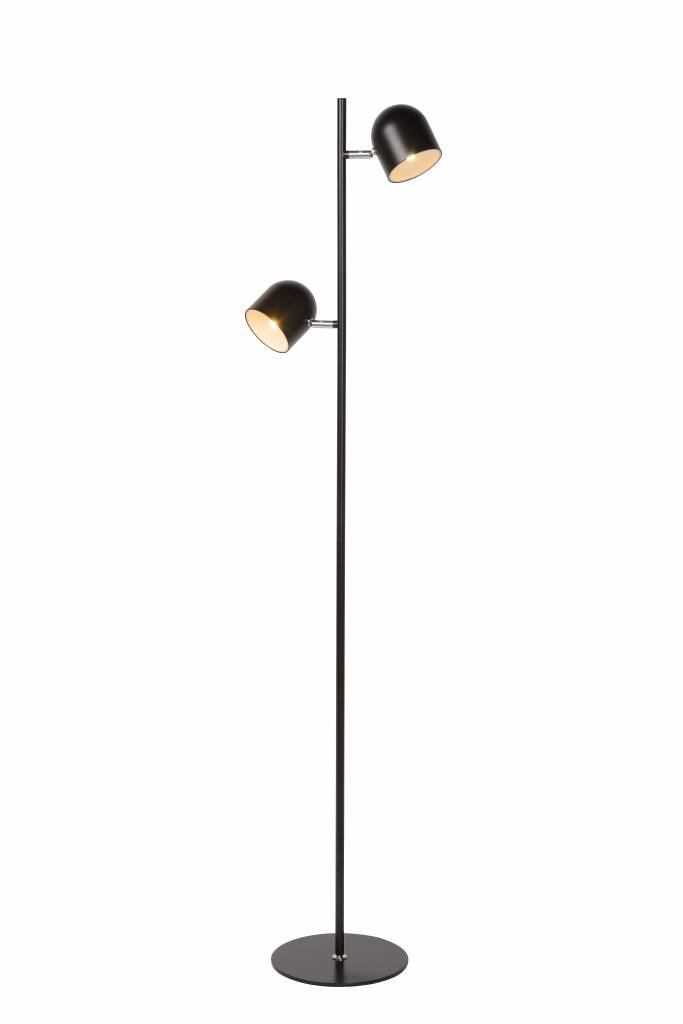 Scandinavian floor lamp black, white LED 2x5W 141cm