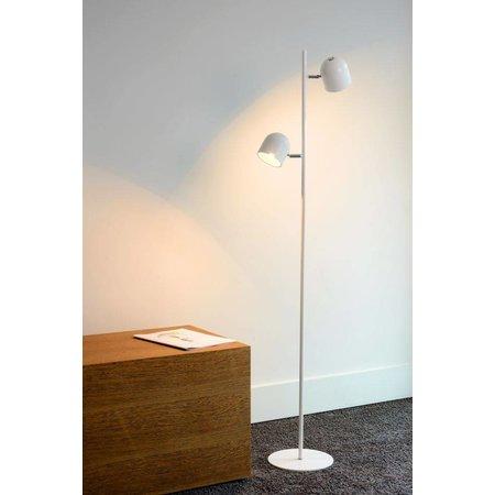 Scandinavian floor lamp black, white LED 2x5W 141cm