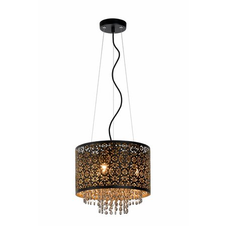 Crystal pendant light black or white 315mm Ø G9x3